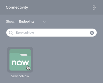 ServiceNow connection existing