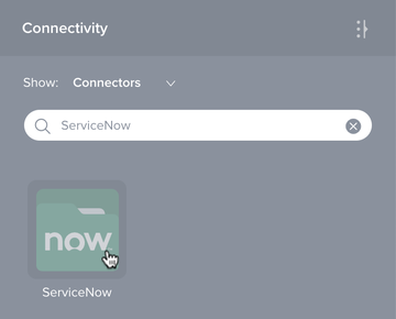 ServiceNow connection new